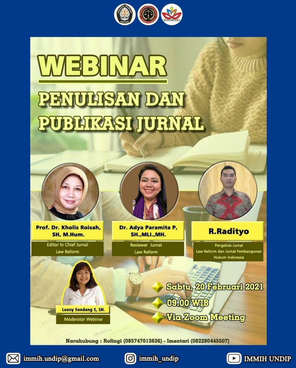 Webinar Writing and Publication of Journal of Master of Law Study Program